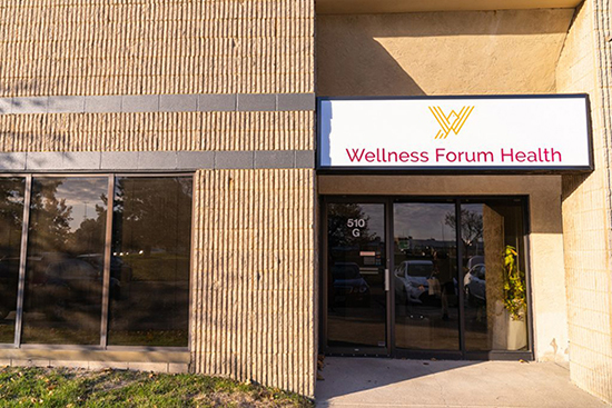 wellness forum health location front entrance